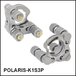 Ø1in Polaris<sup>®</sup> Kinematic Mirror Mount, 3 Piezoelectric Adjusters