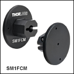 Externally SM1-Threaded Adapters for Fiber Patch Cables with Ferrule Ends