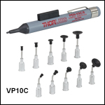 Manual Vacuum Pick-Up Tool Kit, 10 Interchangeable Tips