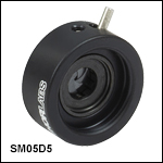 SM05-Threaded, Lever-Actuated Iris Diaphragm