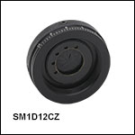 Graduated Ring-Actuated Zero Aperture Iris Diaphragm