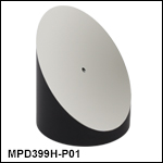 Ø3in 90° Off-Axis Parabolic Mirrors with Through Holes