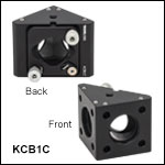 30 mm Cage Right-Angle Kinematic Mirror Mount with Smooth Cage Rod Bores