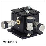 3-Axis MicroBlock Stage with Compact Differential Adjusters