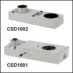 Double Camera Ports with Built-In Optics<br>