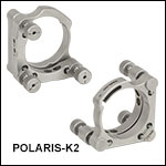 Polaris<sup>®</sup> Ø2in Kinematic Mirror Mount, 3 Adjusters
