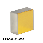 Square Unprotected Gold Mirrors