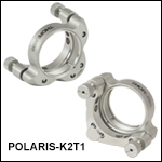 Ø2in Polaris<sup>®</sup> SM2-Threaded Kinematic Mirror Mounts, 2 Adjusters