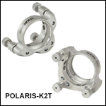 Ø2in Polaris<sup>®</sup> SM2-Threaded Kinematic Mirror Mounts, 3 Adjusters