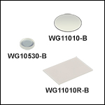 N-BK7 Windows, AR Coated: 650 - 1050 nm