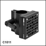 Ø1in (Ø25 mm) Post Mounting Clamp with 2in x 2in (50.8 mm x 50.8 mm) Mounting Plate