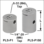 Ø1in (Ø25 mm) Posts for Polaris<sup>®</sup> Mirror Mounts, One Mounting Tap