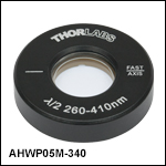Ø1/2in Mounted Achromatic Half-Wave Plates with Ø1in Mount