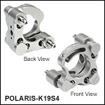 Polaris<sup>®</sup> Ø19 mm Kinematic Mirror Mount, 2 Adjusters