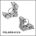 Ø1in Polaris<sup>®</sup> Kinematic Glue-In Mirror Mount, Clear Edge, 2 Adjusters