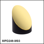 Ø2in 90° Off-Axis Parabolic Mirrors, Unprotected Gold Coating