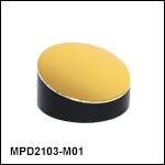 Ø2in Off-Axis Parabolic Mirrors, Protected Gold Coating