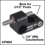 Adjustable Kinematic Positioner, 1/4in (M6) Counterbore