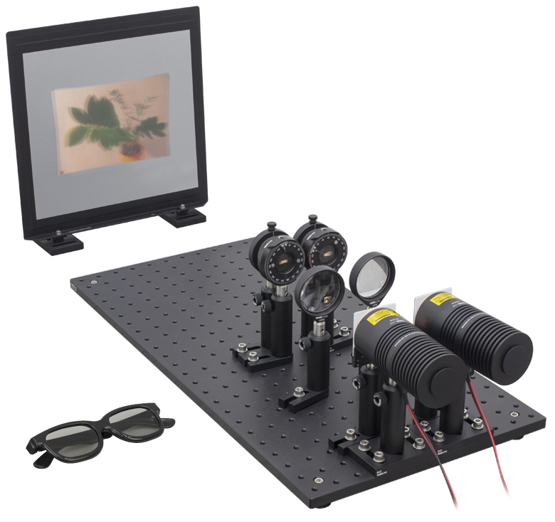102fd063f4 The Polarization and 3D Cinema Technology Kit allows students to build  their own 3D projector. The version shown here uses circular polarization  and a pair ...