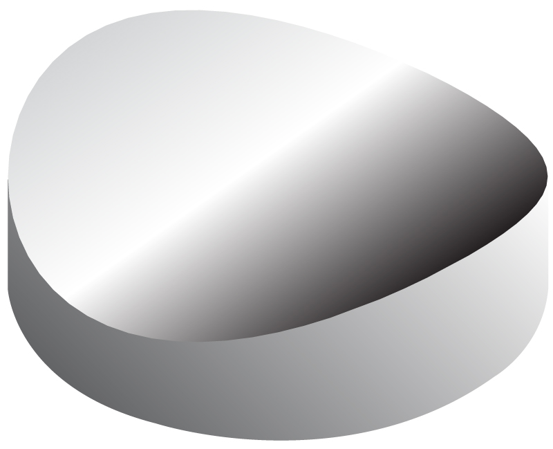 Metal coated concave cylindrical mirrors for Concave mirror