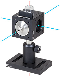 optical axis of cuvette holder