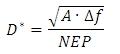 Detectivity Equation