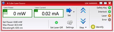 Kinesis Laser Source GUI