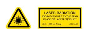 Laser Warning Lable