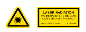 Laser Warning Lable