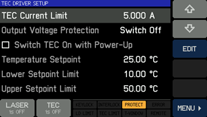 TEC Driver Setup Screen