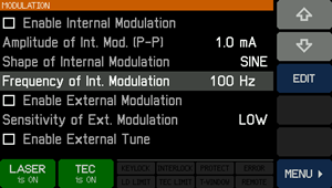 Modulation Screen