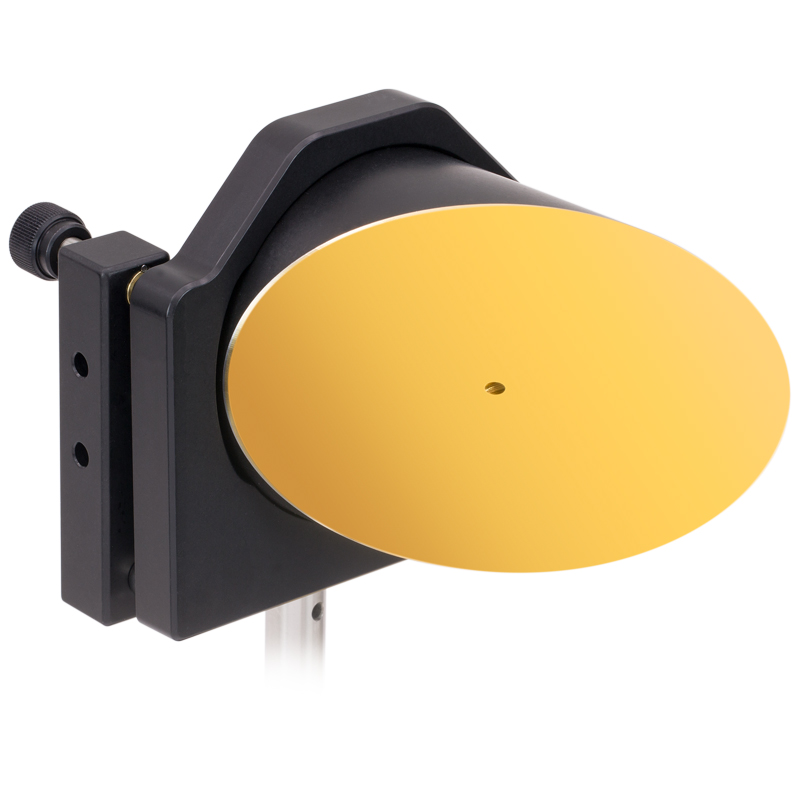 Off axis parabolic mirrors with holes parallel to focused beam for Miroir 90 x 40
