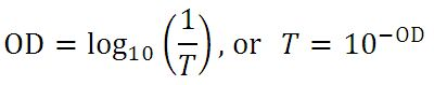 Optical Density Equation