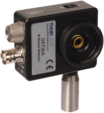 post mounted biased photodiode detector