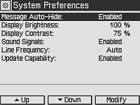 Preferences Screen