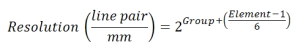 Test Target Equation