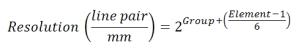Test Target Equation