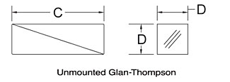 Unmounted Glan-Thompson Schematic
