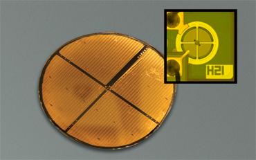 Figure2: MEMS-VCSEL Wafer Photo
