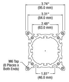 Drawing of Standard 95 mm Rail