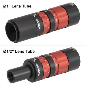 Zoom Fiber Collimators with Lens Tubes