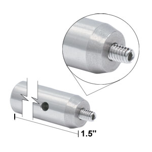 TR1.5 - Ø1/2in x 1.5in Stainless Steel Optical Post, 8-32 Stud, 1/4in-20 Tapped Hole