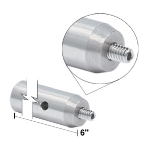 TR6 - Ø1/2in x 6in Stainless Steel Optical Post, 8-32 Stud, 1/4in-20 Tapped Hole