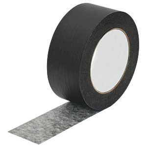 T137-2.0 - Black Masking Tape, 2in x 60 yds. (50 mm x 55 m) Roll