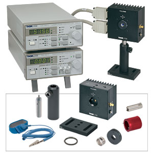 LTC100-B - Complete Laser Diode / Temperature Controller Set incl. Mount, Optic, & Accessories for 600-1050 nm