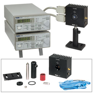 LTC100-C - Complete Laser Diode / Temperature Controller Set incl. Mount, Optic, & Accessories 1050-1550 nm