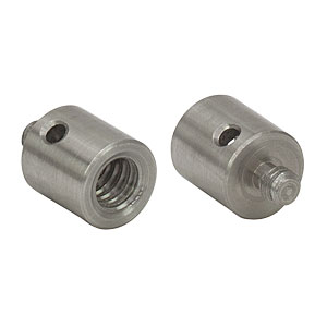 AS25E8E - Adapter with Internal 1/4in-20 Threads and External 8-32 Threaded Stud