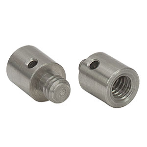 AS8E25E - Adapter with Internal 8-32 Threads and External 1/4in-20 Threaded Stud