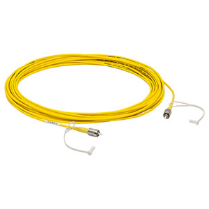 P1-630A-FC-10 - Single Mode Patch Cable, 633 - 780 nm, FC/PC, Ø3 mm Jacket, 10 m Long