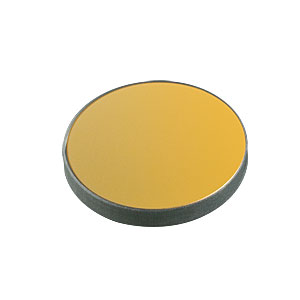 ME1-M01 - Ø1in Protected Gold Mirror, 3.2 mm Thick